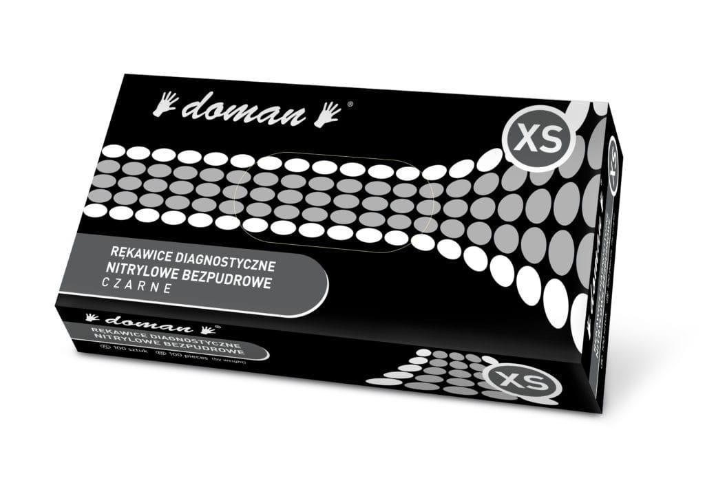 Image of Rękawice nitrylowe czarne DOMAN
